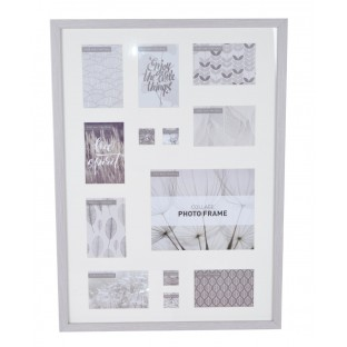 Multiramka RAMKA na 9 zdjęć szara rama 72,5x52,5 cm