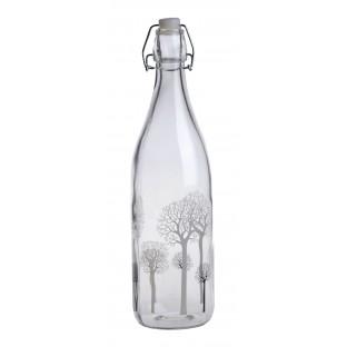 Butelka szklana w drzewka z klipsem 31 cm
