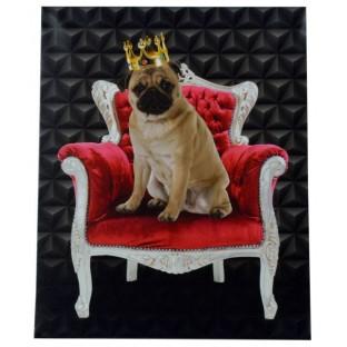 Obraz mops na fotelu 40x50 cm