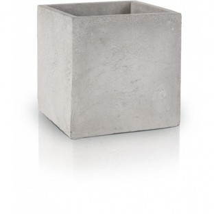 Osłonka betonowa doniczka szara kwadratowa 15.5x13