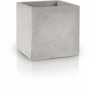 Osłonka betonowa doniczka szara kwadratowa 16x14