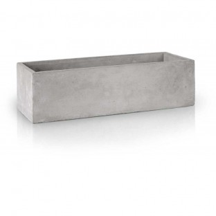 Osłonka doniczka beton ozdobny prostokątna 32 cm