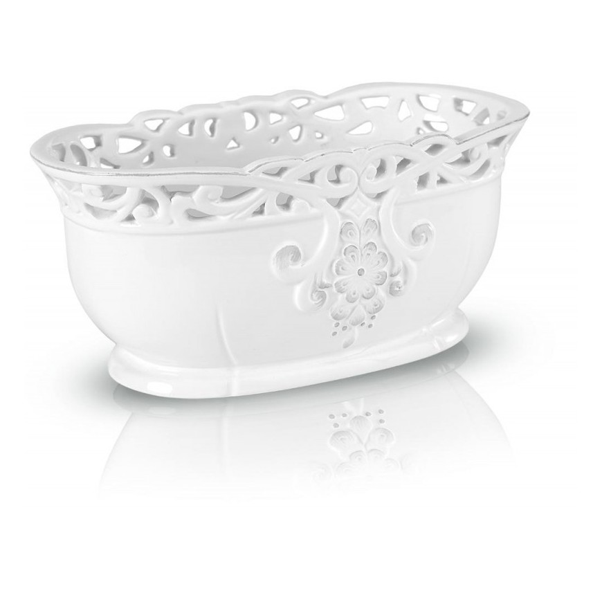 Osłonka ceramiczna ażurowa biała