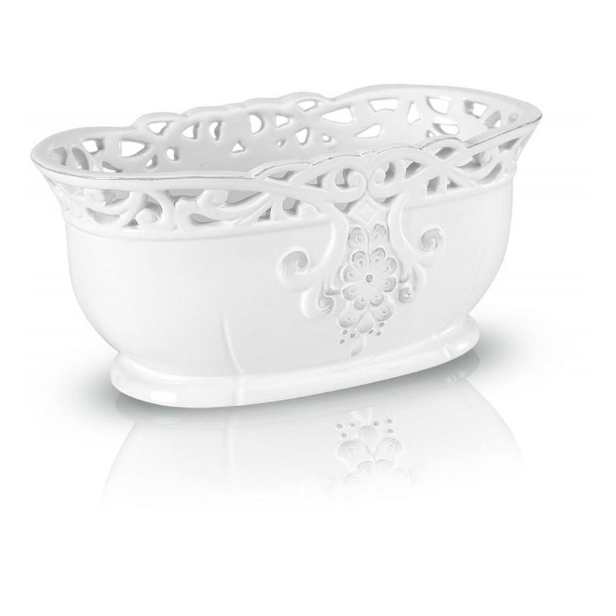 Osłonka biała ceramiczna ażurowa