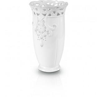 Okrągły wazon ceramiczny ażurowy 13cmx24cm
