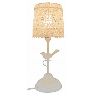 Lampa metalowa ażurowa szara 54 cm