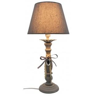 Lampa nocna szara z serduszkiem 52 cm