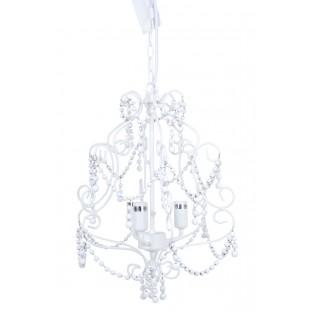 Żyrandol romantyczny metalowy biały