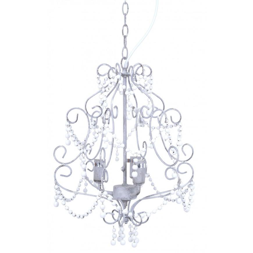 Żyrandol romantyczny vintage z kryształkami