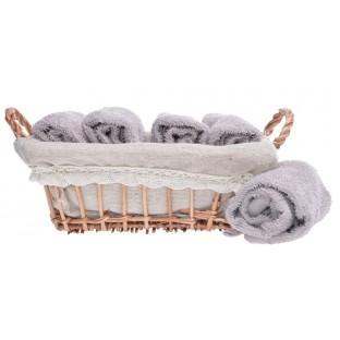 6 ręczników w koszyku /30x30/