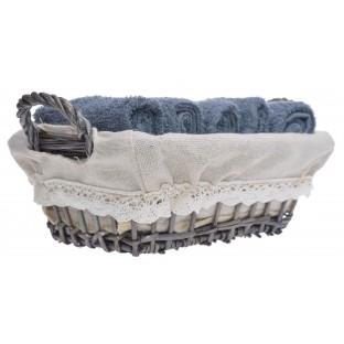 6 ręczników w koszyku /30x30/ SZARE