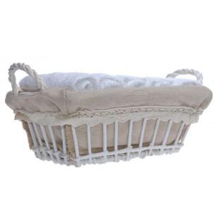 6 ręczników w koszyku /30x30/ białe