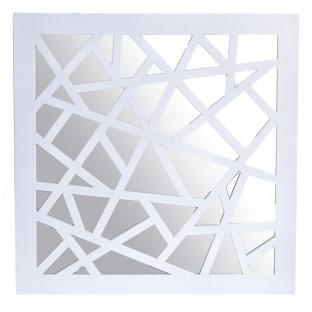 Lustro we wzory 39x39 cm białe