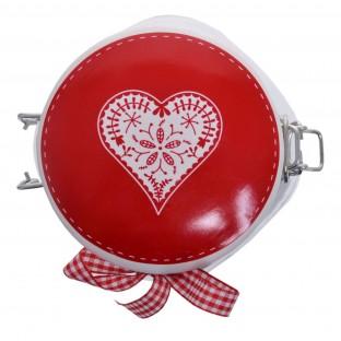 Słoik kuchenny z etykietą 14 cm z  sercem