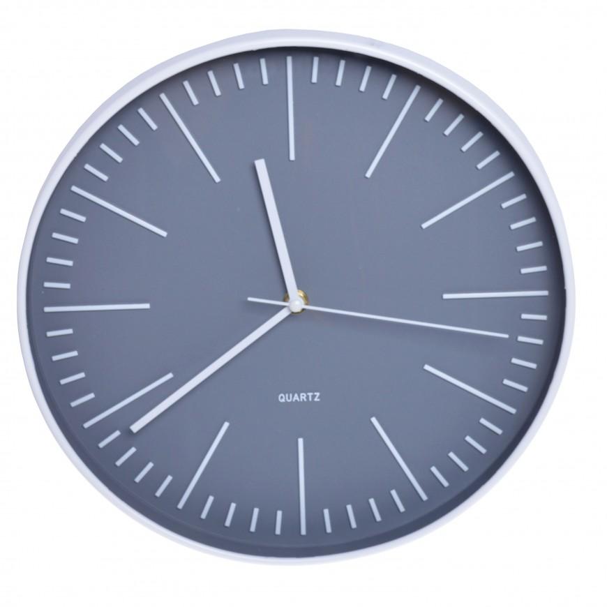 Zegar ścienny biało-szary 30 cm