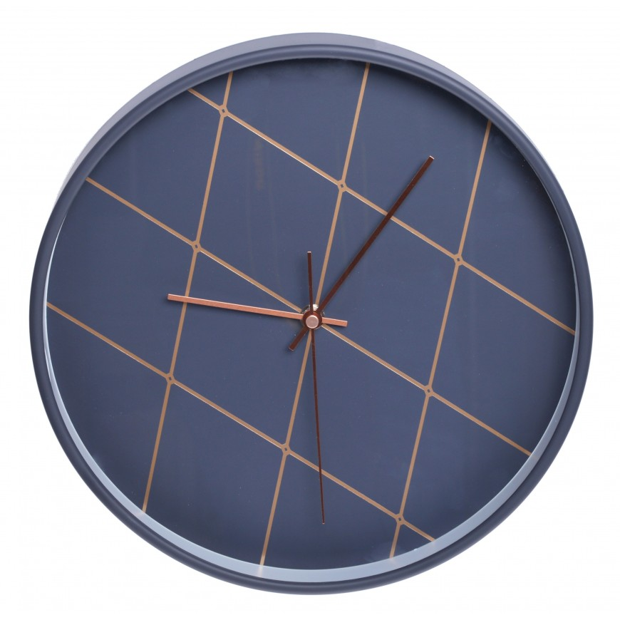 Zegar ścienny grafitowy 30 cm