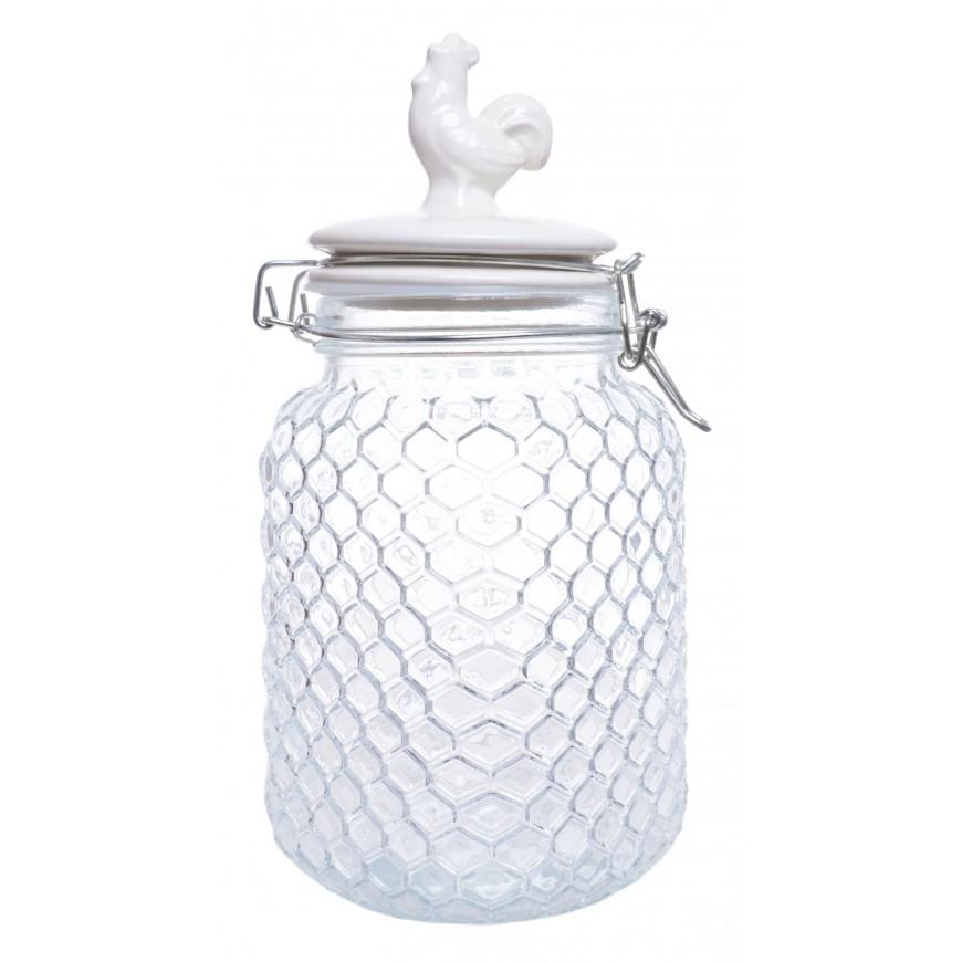 Słoik szklany z kurką 24 cm