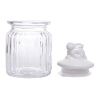 Słoik szklany z króliczkiem