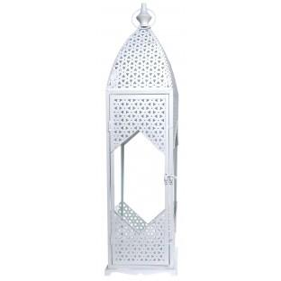 Latarnia lampion metalowa biała 70 cm