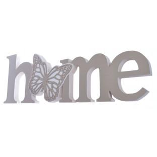 Napis HOME do postawienia z motylkiem 36 cm