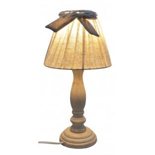 Lampka Lampa nocna z kokardką beżowa vintage