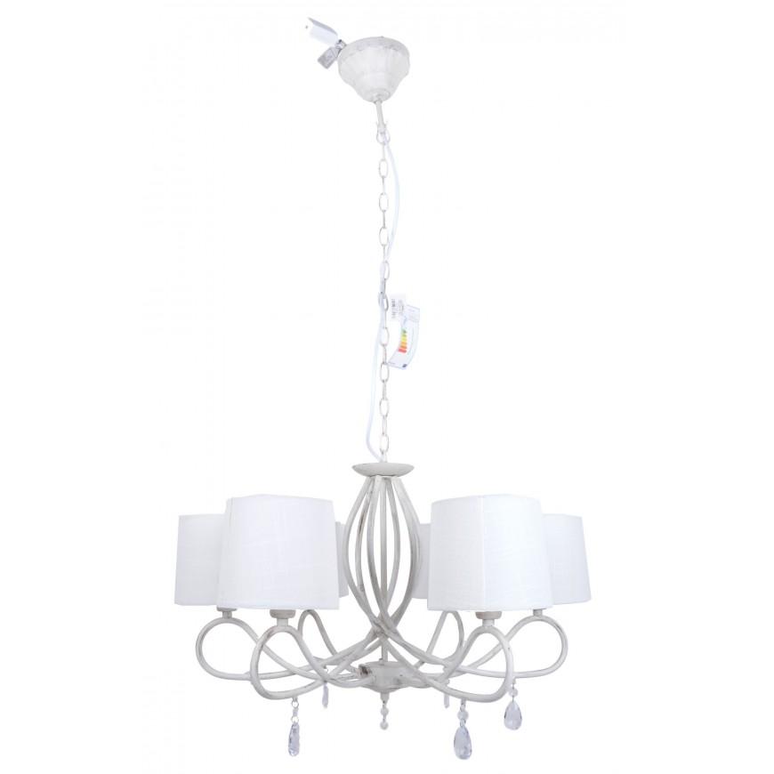 Żyrandol z kryształkami w stylu vintage  6 lamp