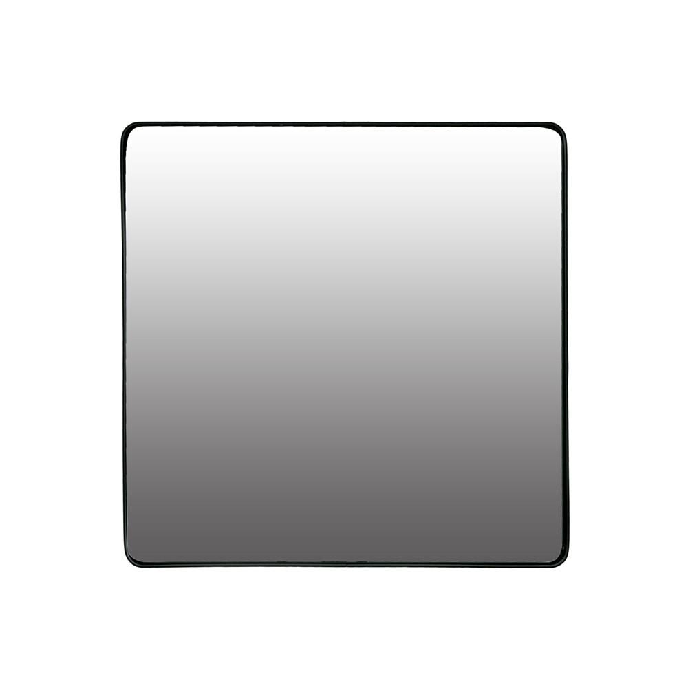 Lustro Kwadratowe W Metalowej Czarnej Ramie