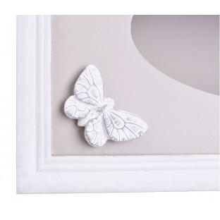 Chustecznik POJEMNIK NA CHUSTKI beżowy z motylem
