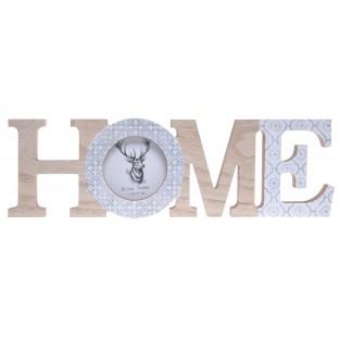 Napis HOME z ramką na zdjęcie dekoracja skandynawska 33 cm