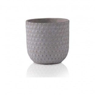 Doniczka betonowa ceramiczna ze wzorem 16x17 cm