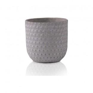 Osłonka ceramiczna szara ze wzorem