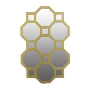 Lustro w złotej ramie /plastik/geometryczne 56