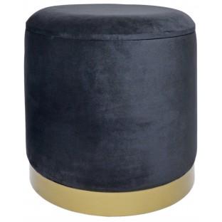 Taboret PUF czarny 35 cm welurowy /ze schowkiem/
