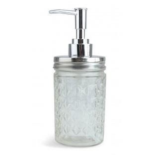 Dozownik do mydła szklany 18 cm