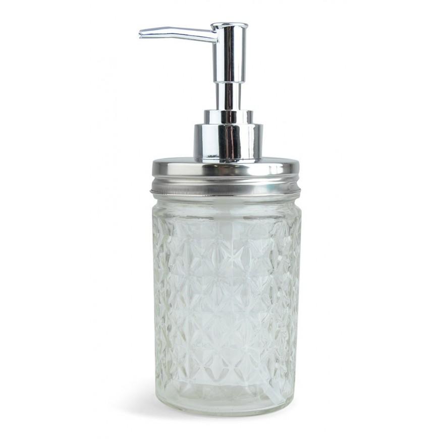 Dozownik do mydła szkło 18 cm