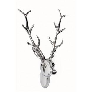 Poroże jelenia srebrne 48x30 cm