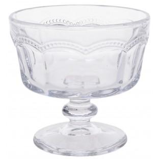 Pucharek do lodów szklany zdobiony 6 szt.