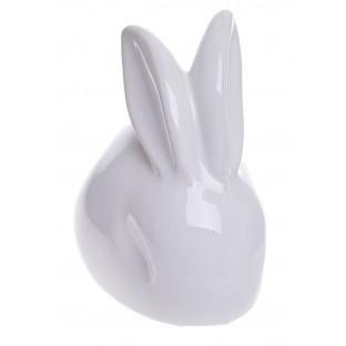 Zając ceramiczny biały 15 cm