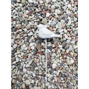 Ptaszek na piku betonowy szary 11x7 cm