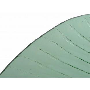 Talerz LIŚĆ szklany zielony 38 cm