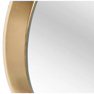 Lustro w okragłej złotej ramie 30 cm