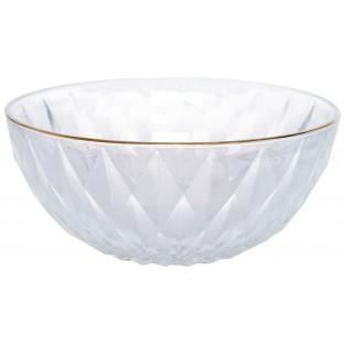 Miska szklana ze złotym brzegiem 19 cm