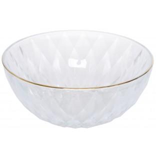 Miska szklana ze złotym brzegiem