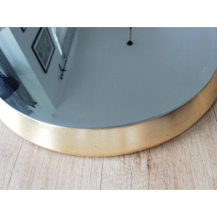 Lustro w okragłej złotej ramie 40 cm