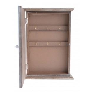 Szafka na klucze drewniana skrzynka z ptaszkami 29,5x21 cm