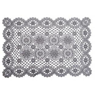 Podkładka na stół maty 30x46 ażurowe ciemnoszare 6 szt.