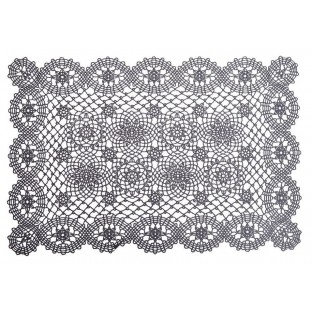 Podkładki na stół maty 30x46 ażurowe ciemnoszare 6 szt.