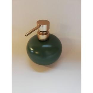 Dozownik na mydło ceramiczny ciemna zieleń