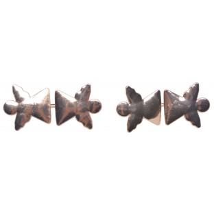 Serwetnik metalowy obrączka na serwetkę złote serca 4 szt.