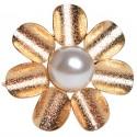 Serwetnik obrączka na serwetkę biało złote 4 szt .